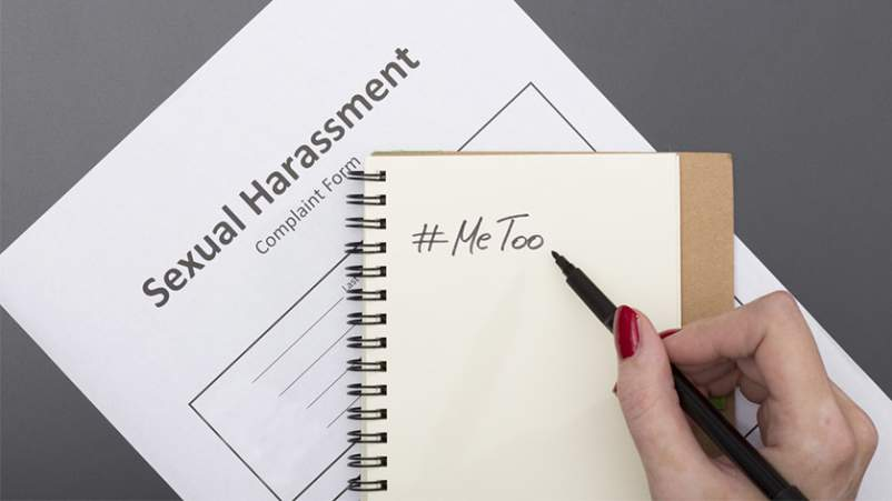 Sexual harassment complaint, me too.
