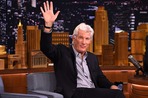 Richard Gere Visits 'The Tonight Show Starring Jimmy Fallon' at Rockefeller Center.