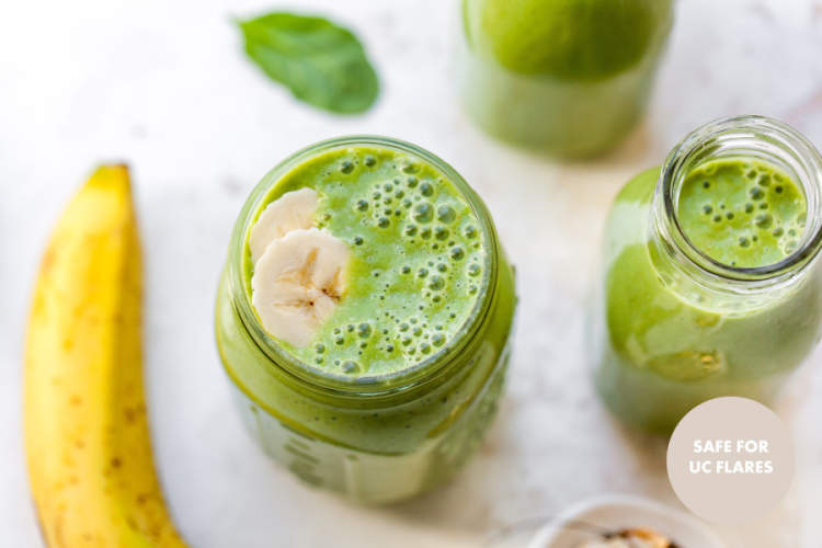 Peanut Butter-Banana Green Smoothie