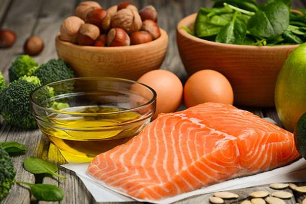 Foods with omega 3 fatty acids image.