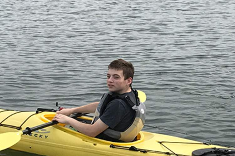 Shane Weiner kayaking.
