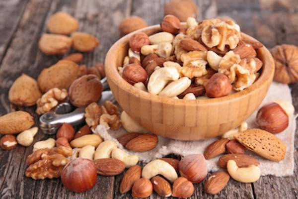 Bowl of mixed nuts.