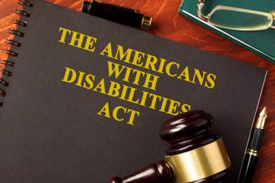 The Americans with Disabilities Act book with gavel