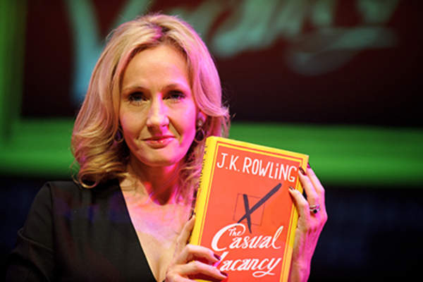 Author J.K. Rowling attends photocall ahead of her reading from 'The Casual Vacancy.'