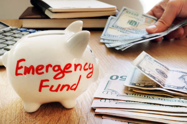 Putting money aside for emergency.