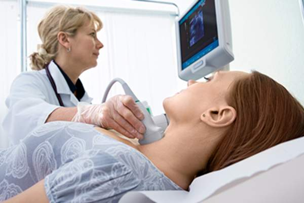 Scanning of a thyroid