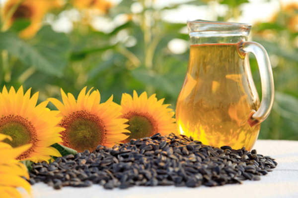 Sunflowers, sunflower seeds and sunflower seed oil.