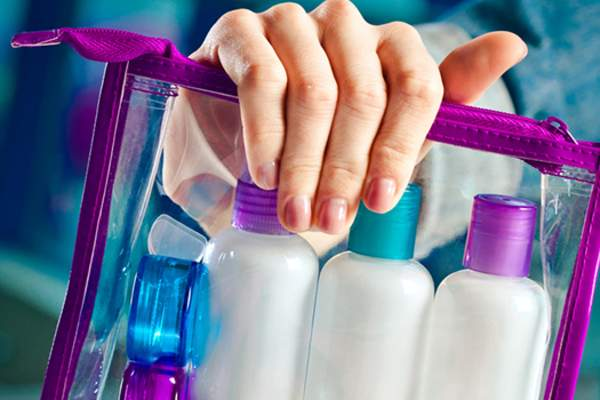 packing toiletries from home image