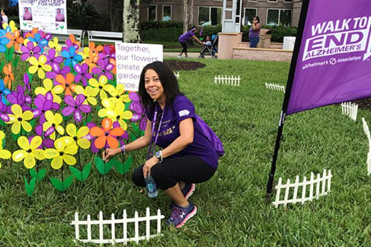 Collett Small at Walk to End Alzheimer's.