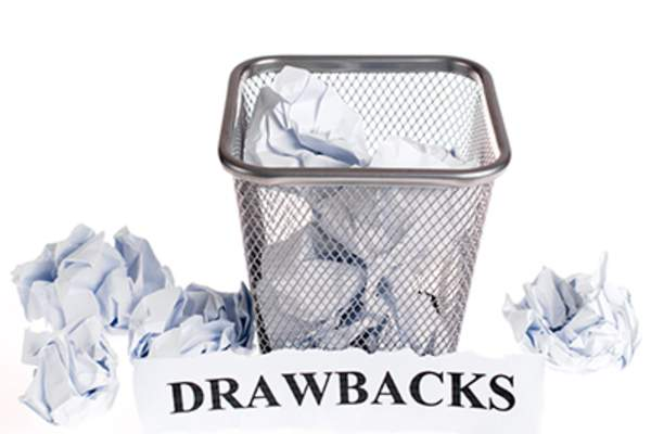 Drawbacks concept wastebasket.