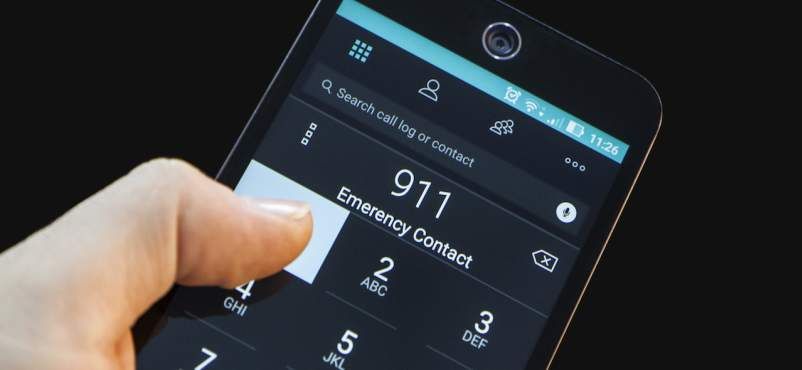 Cell phone call 911 emergency.