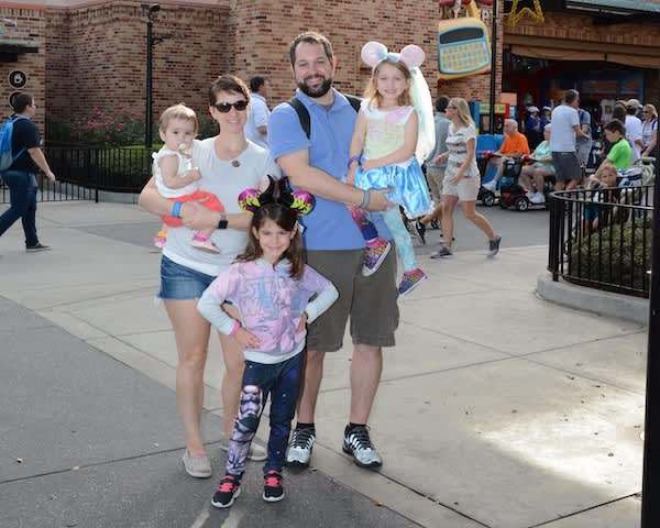 Katrina with family, Disney World.
