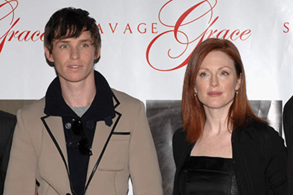 Actor Eddie Redmayne and actress Julianne Moore attend the photocall for 'Savage Grace.'