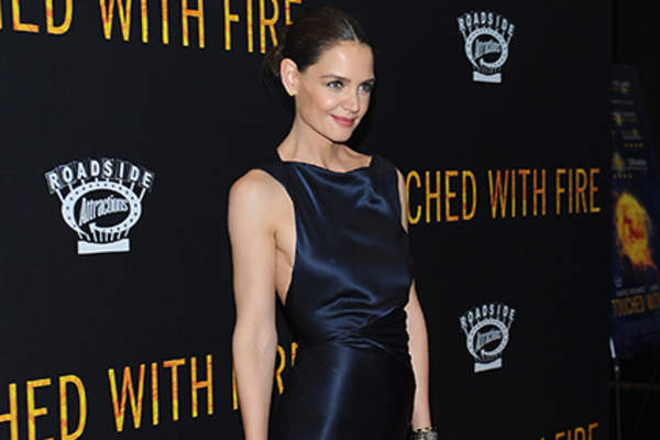 Actress Katie Holmes attends the 'Touched With Fire' New York premiere at Walter Reade Theater.