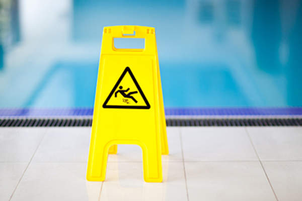 Wet floor sign.