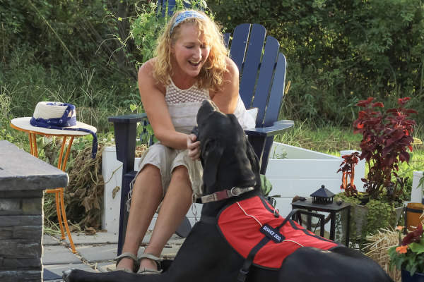 MS with service dog
