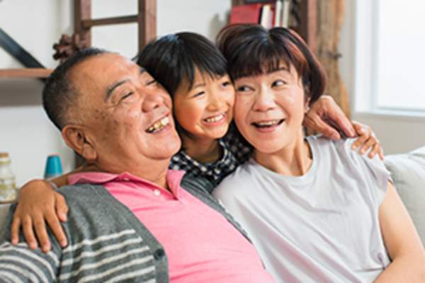 asian american family image