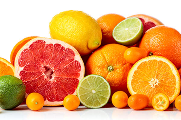 Fresh citrus fruits.