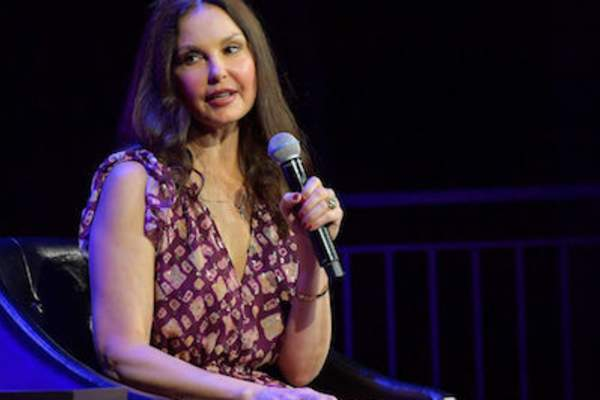 Ashley Judd speaks onstage at 'Time's Up' during the 2018 Tribeca Film Festival at Spring Studios on April 28, 2018 in New York City.