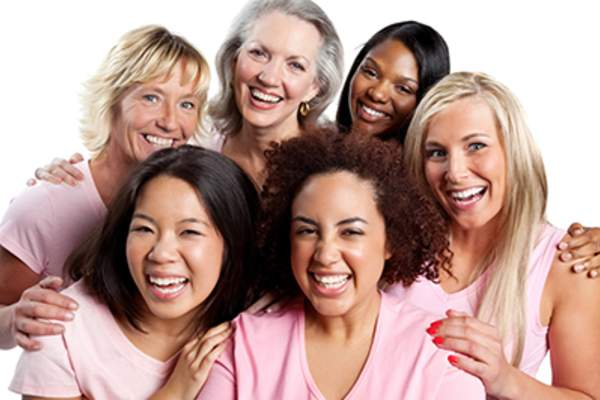 Smiling group of women.
