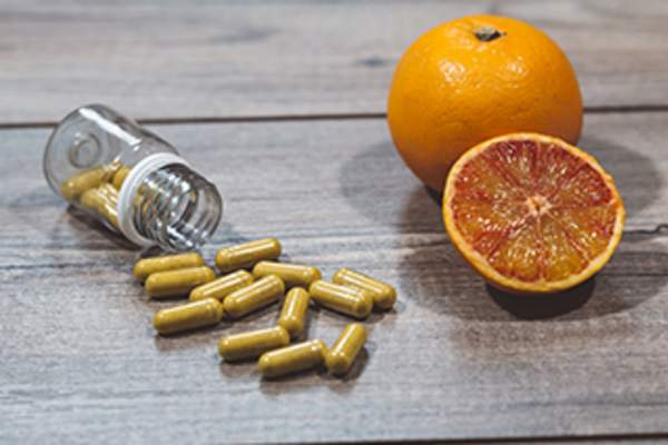 Vitamin C supplements.