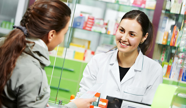 woman at pharmacy image
