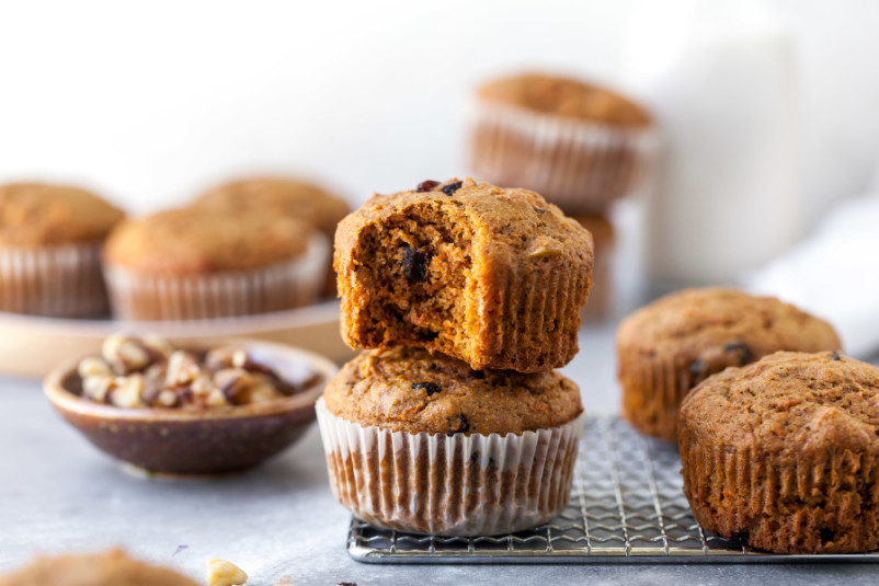 Whole-Grain Morning Glory Muffins