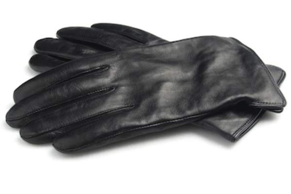 Leather gloves, cashmere lining