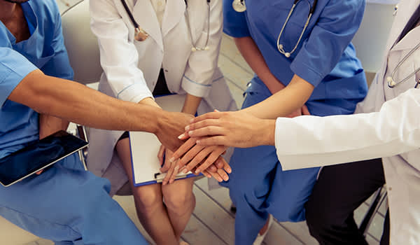 group of health care providers image