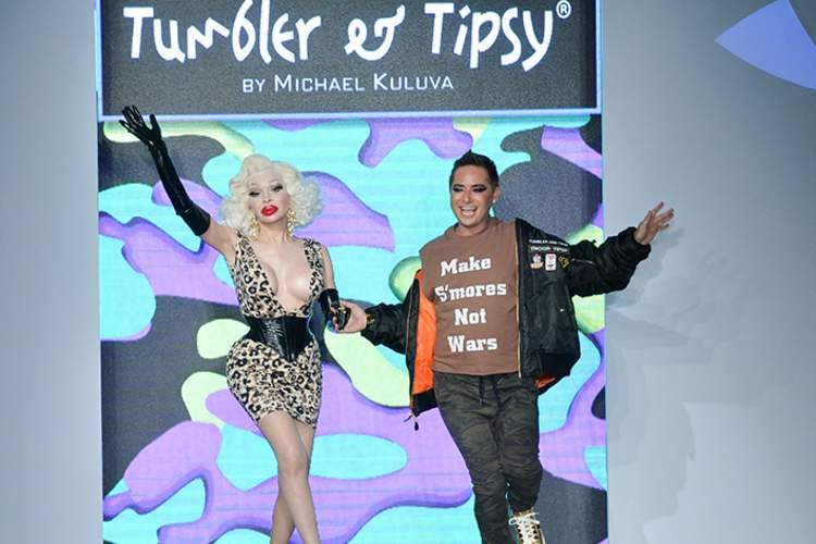 Michael Kuluva at his 2017 New York Fashion Show for Tumbler and Tipsy. And homage to Troop Beverly Hills.