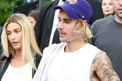 Hailey and Justin Bieber.