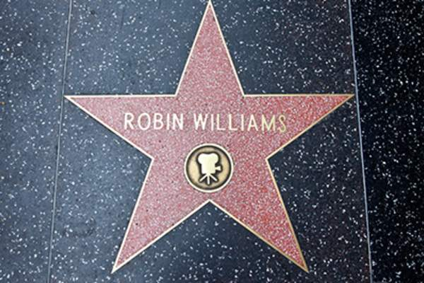Robin WIlliams Hollywood walk of fame star.