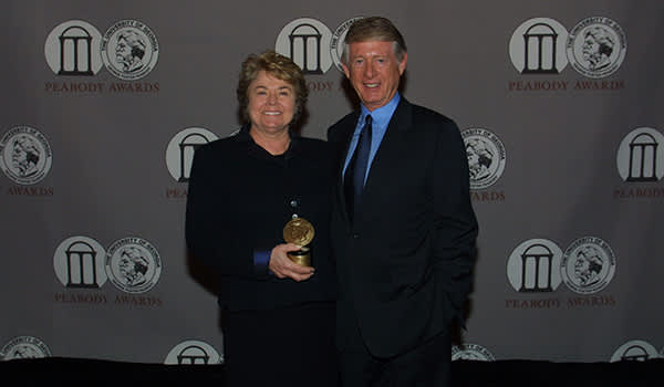 Grace Anne Dorney Koppel and Ted Koppel at the 61st Annual Peabody Awards Luncheon Waldorf=Astoria Hotel May 20, 2002