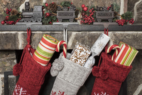 Stockings hung by chimney