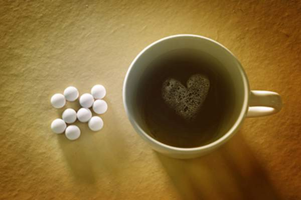 Black coffee and pills