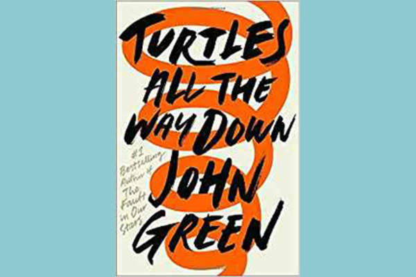 """Turtles All the Way Down"" by John Green cover."
