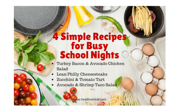 Simple recipes for busy school nights.