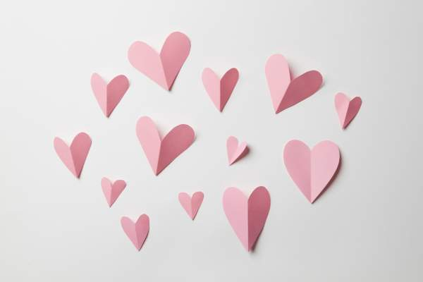 Paper heart cut outs
