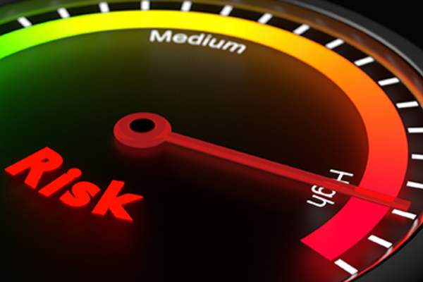 Risk meter turned to high risk.