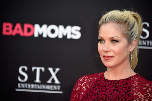 Actress Christina Applegate attends the premiere of STX Entertainment's 'Bad Moms' at Mann Village Theatre on July 26, 2016.