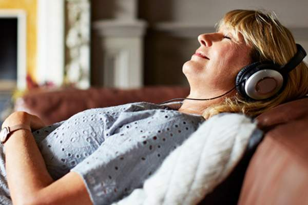 woman listening to music image