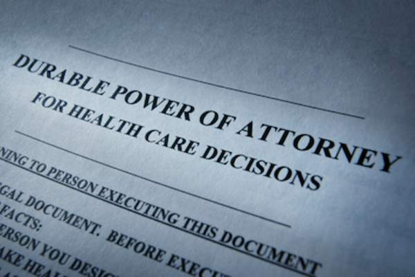 Durable Power of Attorney paperwork.