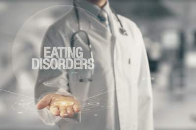 Eating disorders information concept.