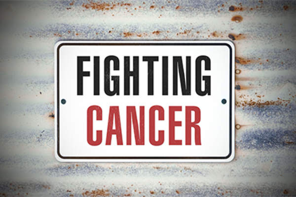 Fighting cancer sign.