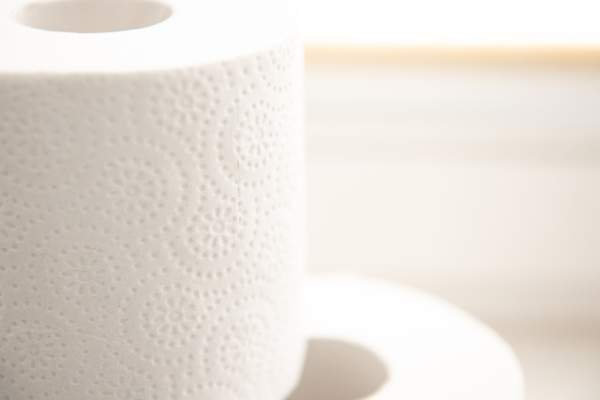 close up on toilet paper