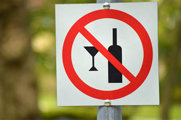 No alcohol sign.