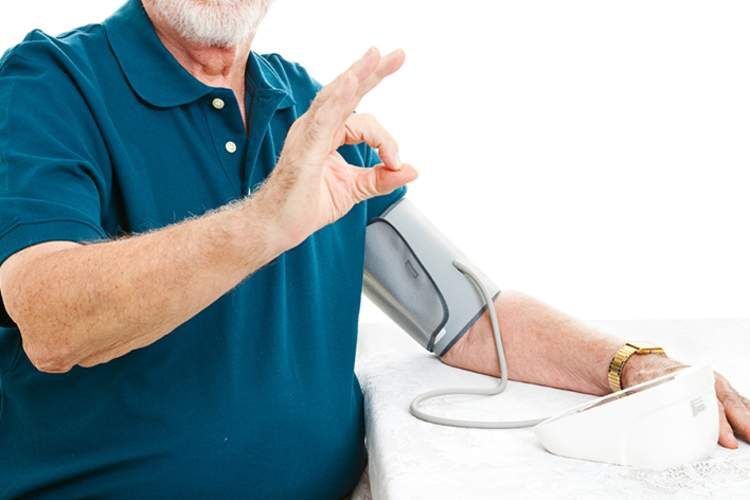 Man lowers his blood pressure.