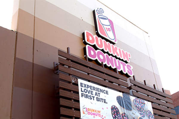 Dunkin Donuts sign.