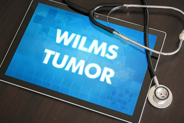 Wilms tumor diagnosis on tablet.
