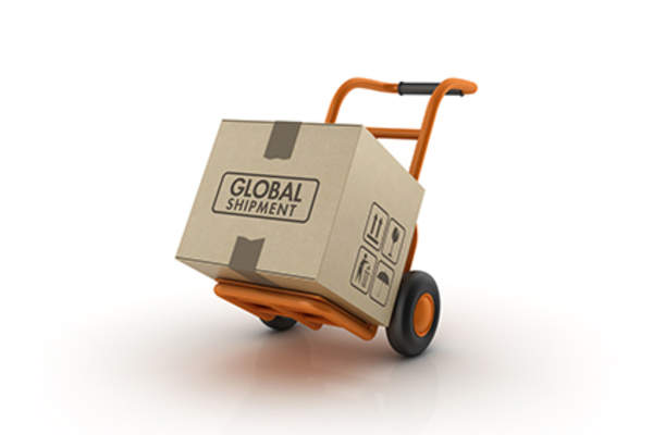 Hand cart with box.